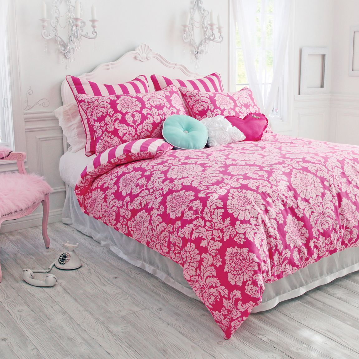 Pin By Wake Up Frankie On Wake Up Frankie Comforter Sets Damask Bedding Pink Bedding