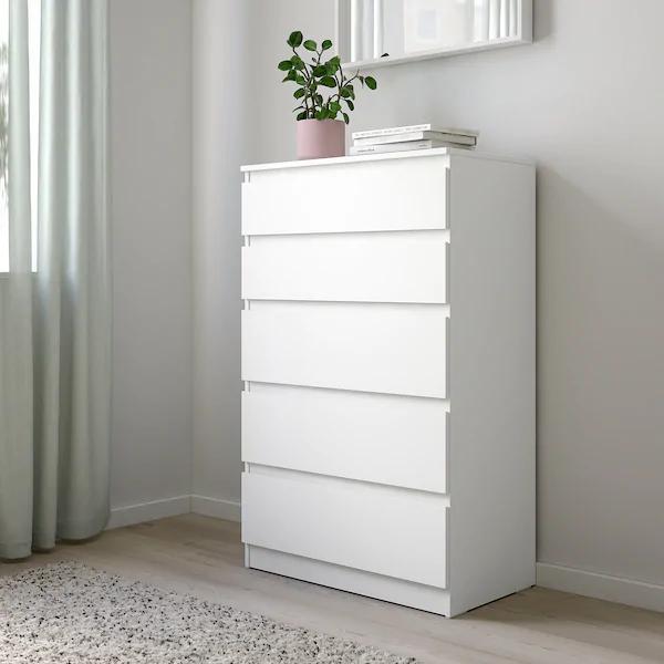 Ikea Cassettiera Malm 5 Cassetti.Kullen Cassettiera Con 5 Cassetti Bianco 70x112 Cm Bedroom
