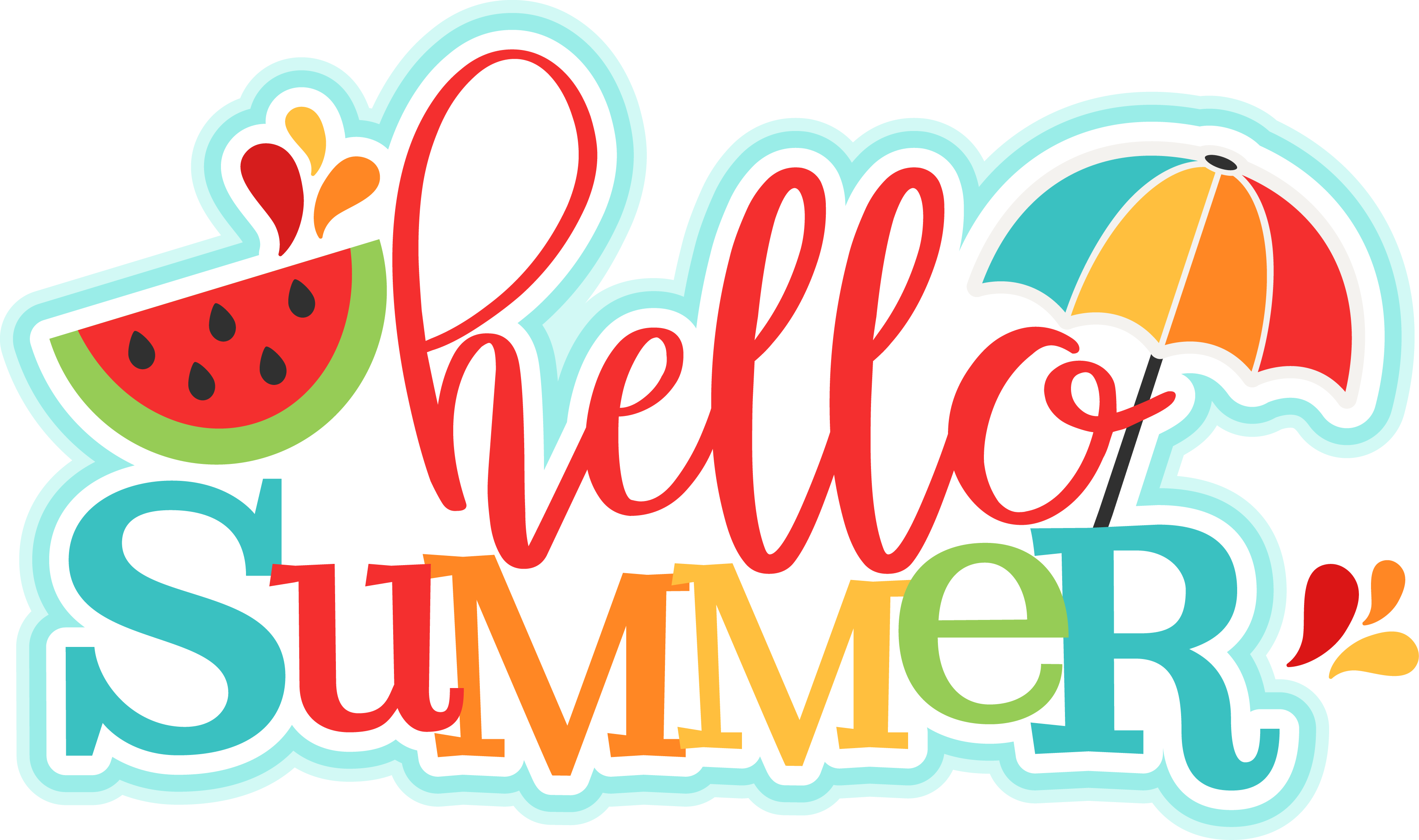 Pin by Benita Micelli on Scrapbooking Layouts & More | Summer clipart,  Silhouette design, Hello summer