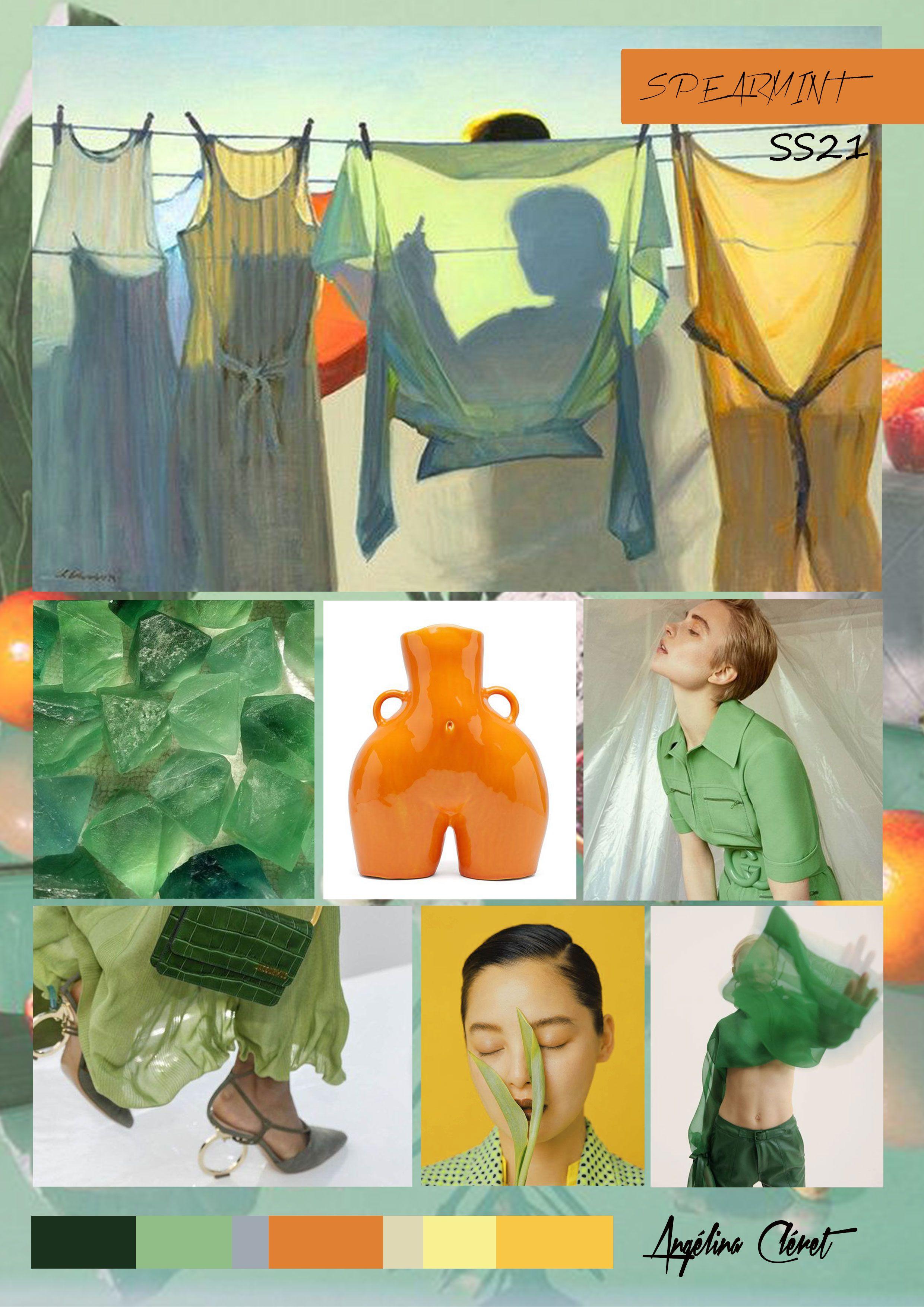 SPEARMINT SS21 - Fashion & Colors Trend by Angélina Cléret