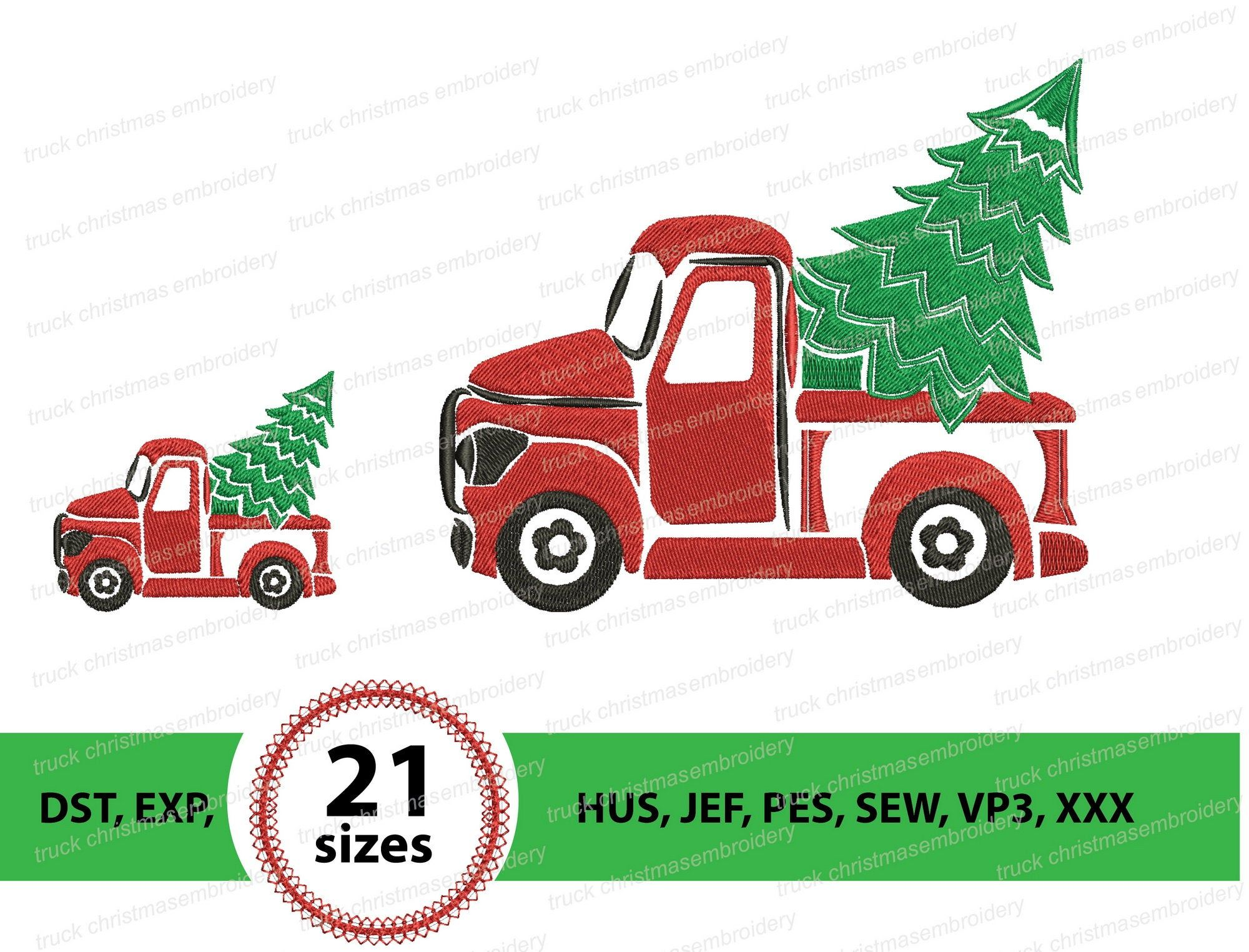 Christmas Tree Truck Machine Embroidery Design Retro Truck And Christmas Tree Embroidery Design Machine Embroidery Design Instant Download Christmas Tree Embroidery Design Christmas Tree Truck Machine Embroidery Designs