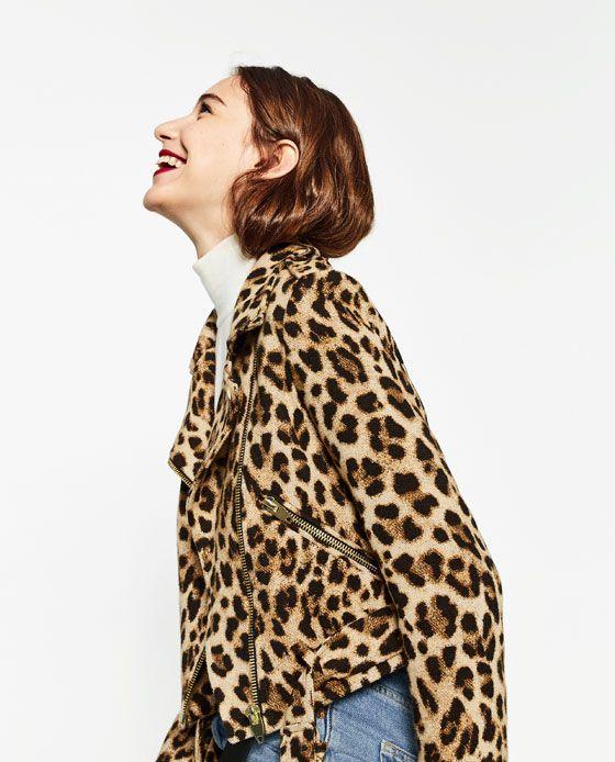 descubre las últimas tendencias tiendas populares ahorros fantásticos Image 2 of ANIMAL PRINT JACKET from Zara | Fashion in 2019 ...