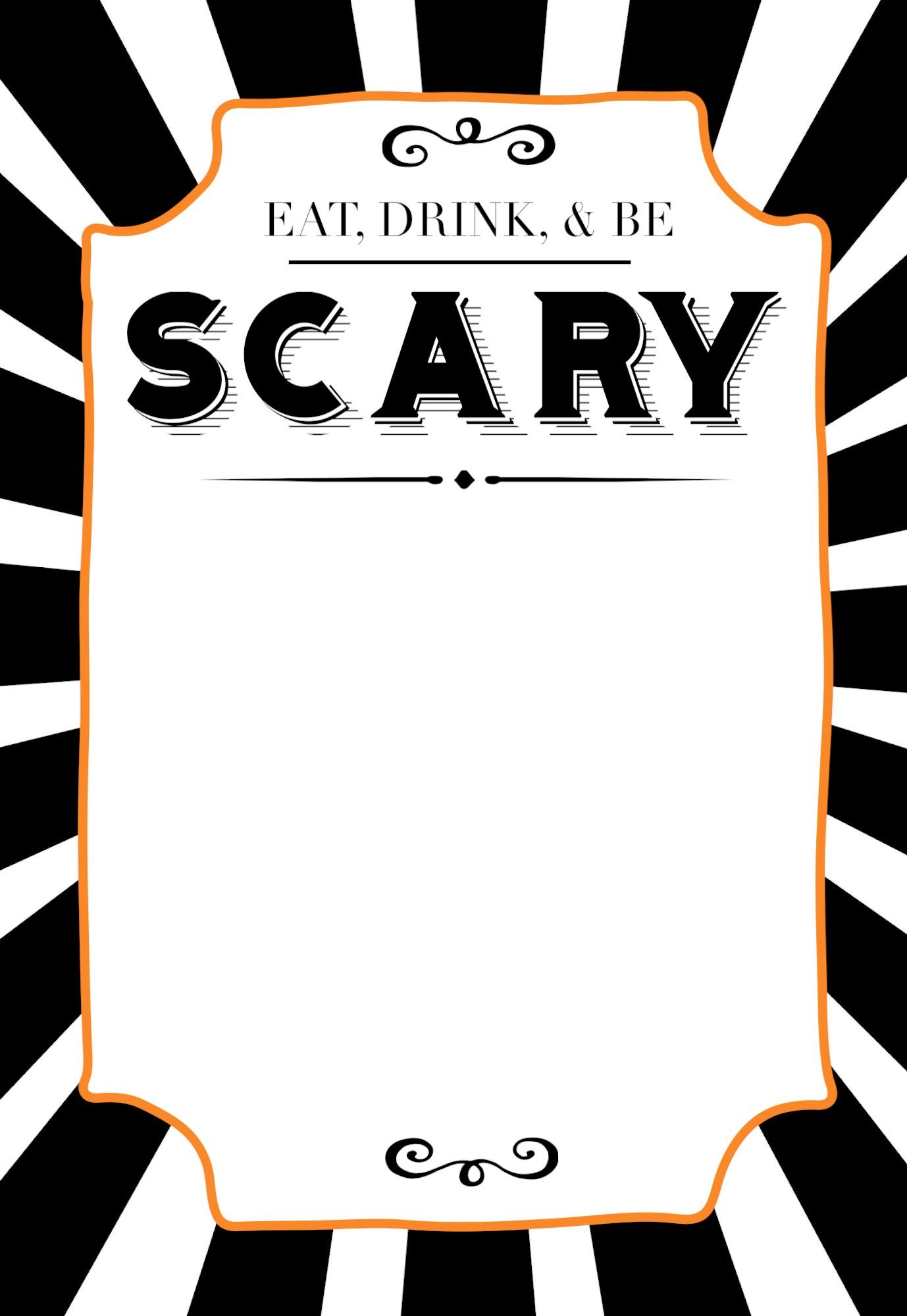 halloween invitations free printable template yw pinterest