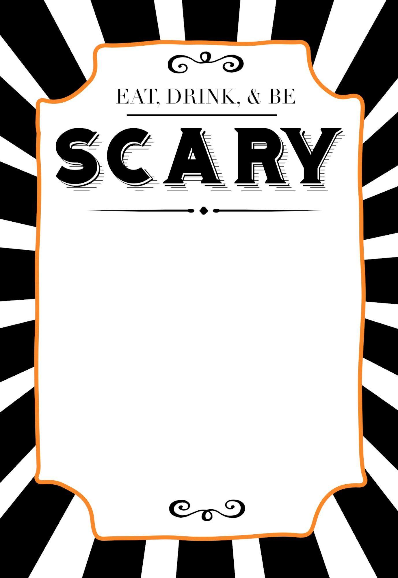 Versatile image regarding free halloween invitation templates printable