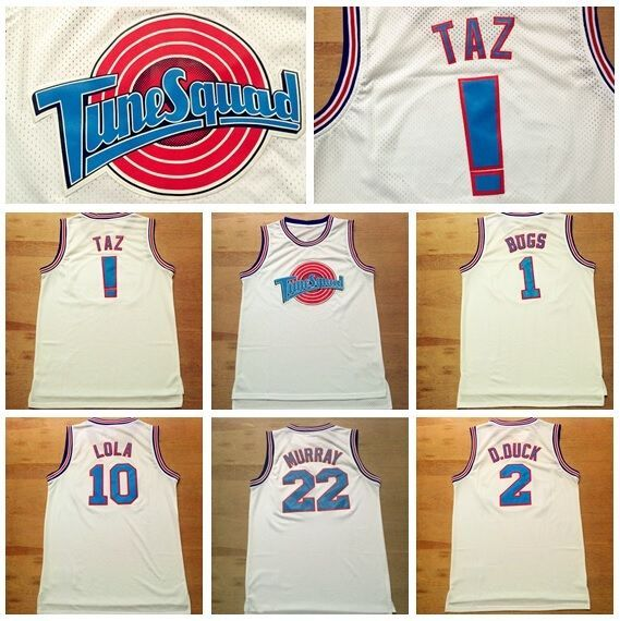 cb5b6b49003 Space Jam Basketball Jersey Tune Squad LOONEY TOONES Basketball New Jerseys