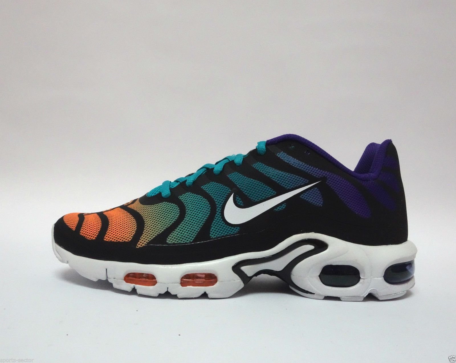 e4a7e8167aa8df Nike Air Max Plus Hyperfuse TN1 Tuned Mens Trainers Shoes Turbo Green White