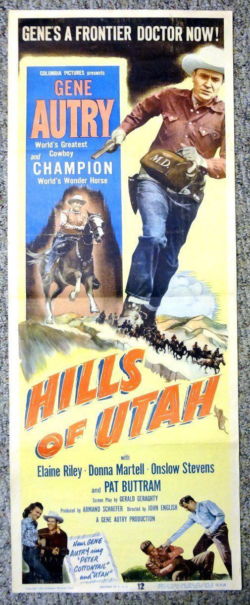 Gene Autry The Hills Of Utah Poster