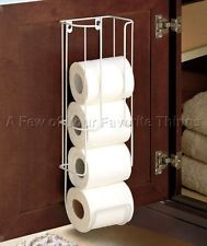 White Cabinet Door Toilet Paper Roll Holder Bathroom Storage Caddy Organizer Bathroom Storage Wall Storage Cabinets Caravan Storage