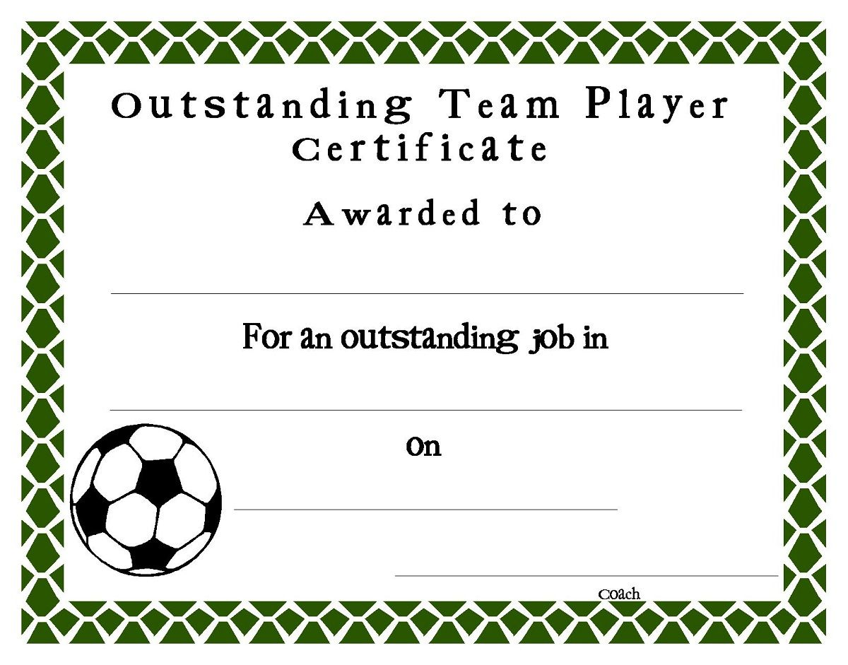 soccer award certificates template | kiddo shelter | blank