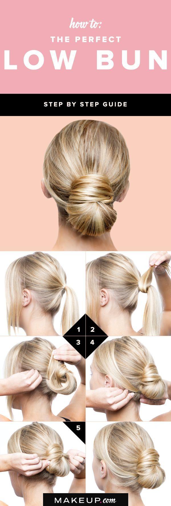 4 Steps To Create The Perfect Low Bun Hair Tutorials Ideas