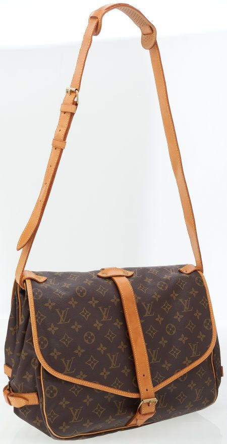 ef8cd6c0a17 Louis Vuitton Classic Monogram Canvas Saumur Messenger Bag