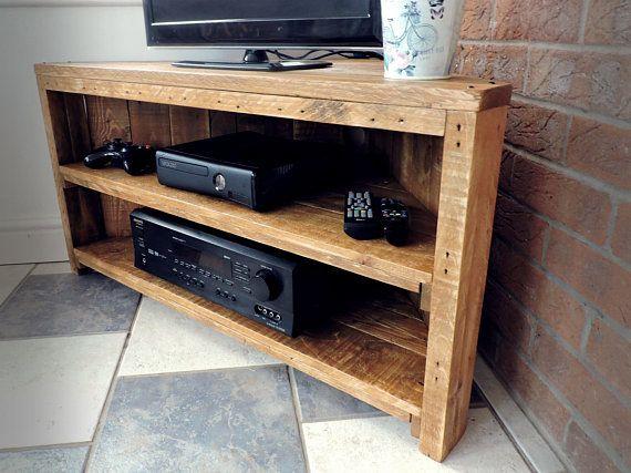 pallet corner tv unit rustic style upcycled reclaimed wood rh pinterest com