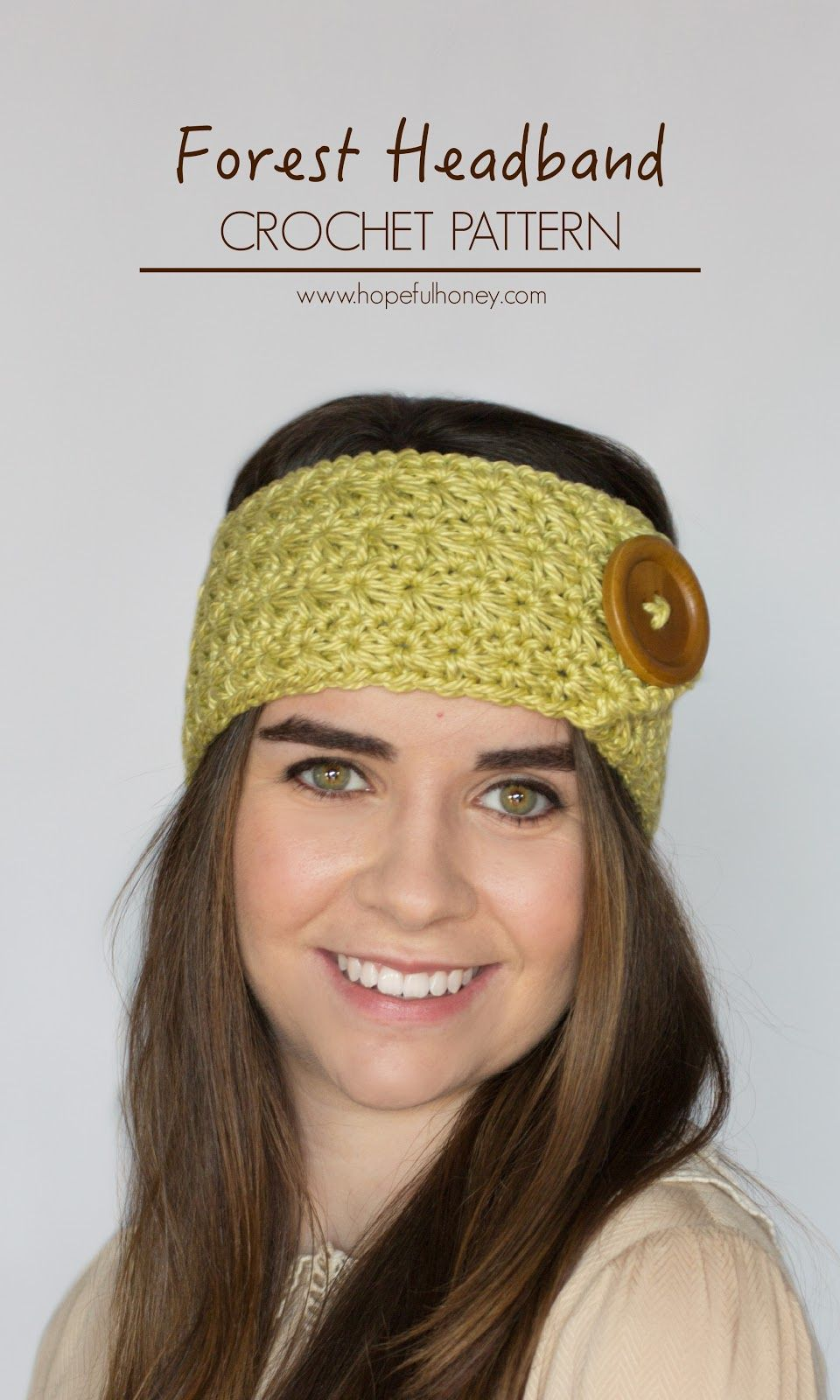 Enchanted Forest Headband Crochet Pattern | Häkelarbeiten ...