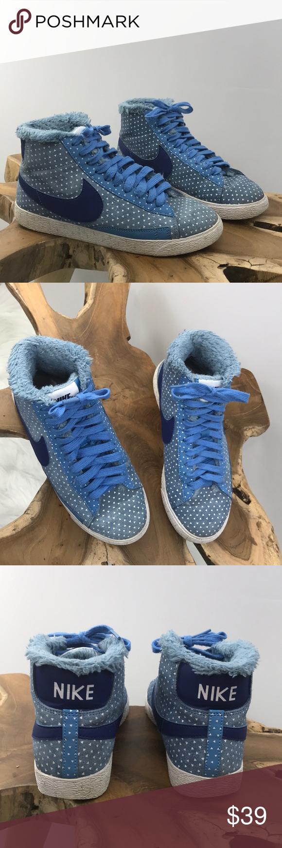 2b830bebfda Nike Blazer Mid Print Blue Navy high top Sneaker