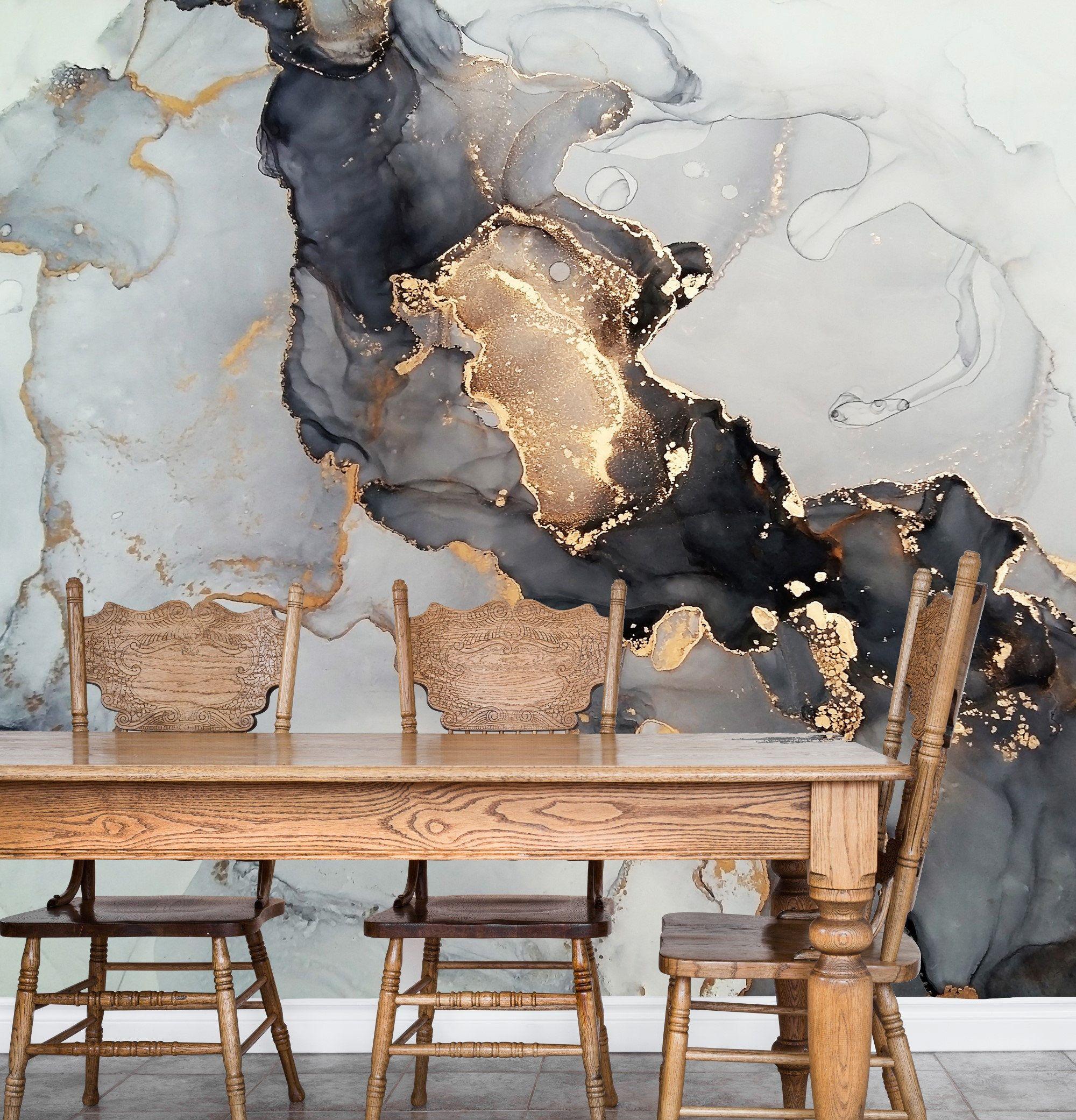 Marble Design Wallpaper Wall Mural ...