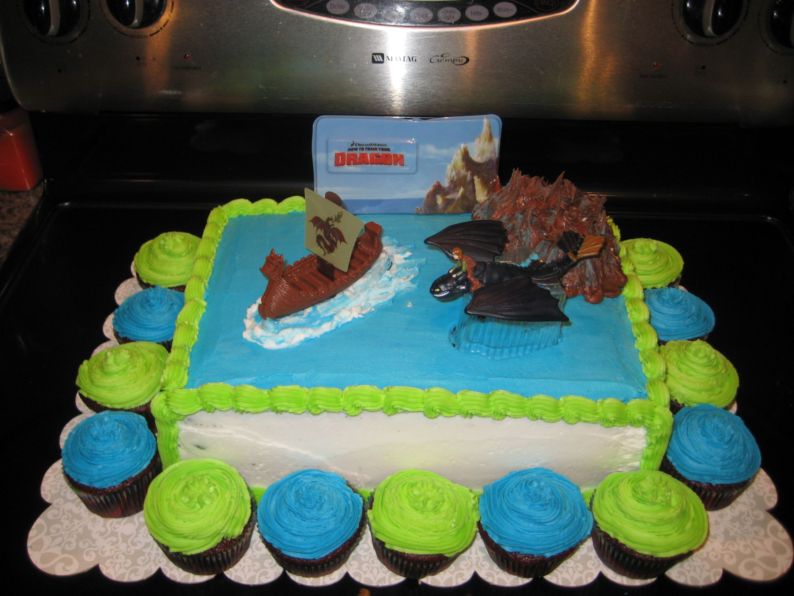 How To Train Your Dragon Cake Scottys 7th Birthday Party
