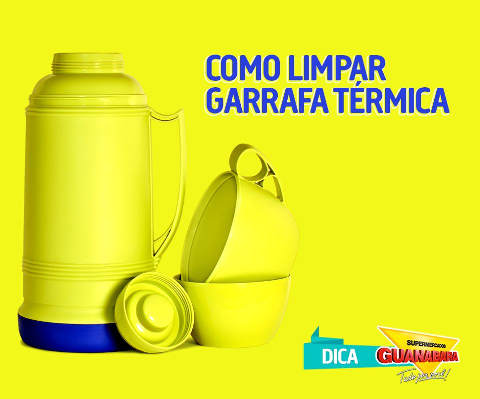 Como limpar garrafa térmica — Supermercados Guanabara
