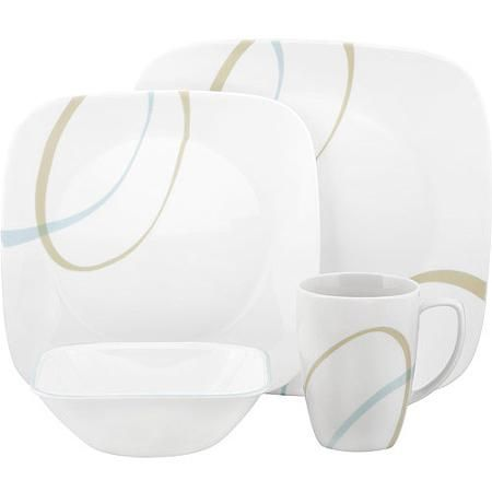 Corelle Squares Sand and Sky 16-Piece Dinnerware Set - Walmart.com  sc 1 st  Pinterest & Corelle Squares Sand and Sky 16-Piece Dinnerware Set - Walmart.com ...
