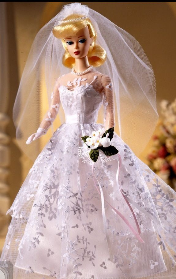 1960 Wedding Day Barbie Reproduction Doll Barbie Wedding Dress Barbie Wedding Barbie Bridal