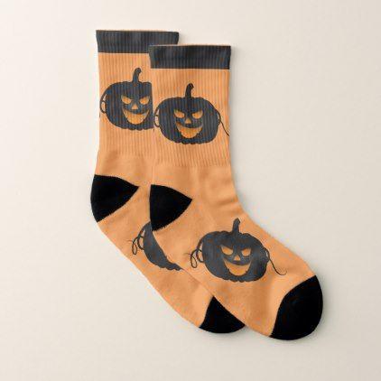 Black Pumpkin- Halloween Socks - Halloween happyhalloween festival party holiday