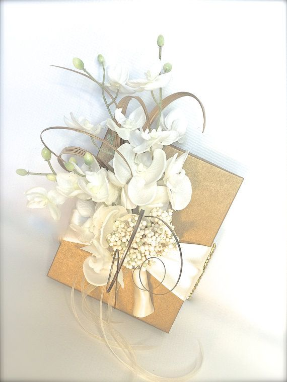 Gold And White Shabby Chic Wedding Gift Box By Wrapsodyan