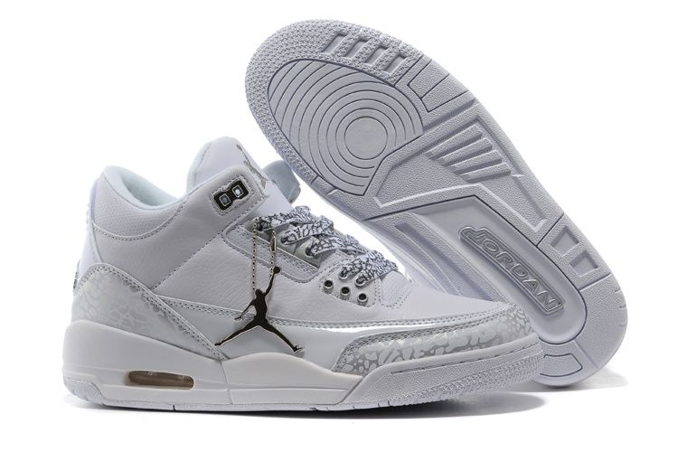 $59.99 Nike Air Jordan 3 Retro Women Shoes White  http://www.cheapjordansshoesonlinesale