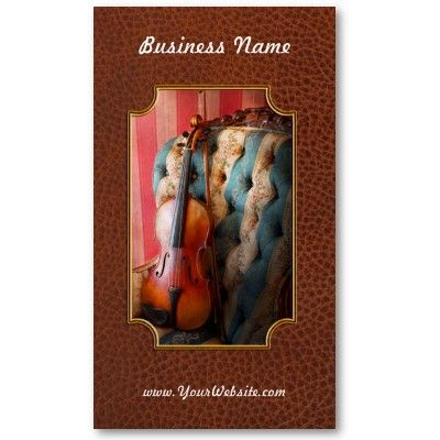 Music - Violin - Musical Elegance Business Card Templates by suburbanscenes