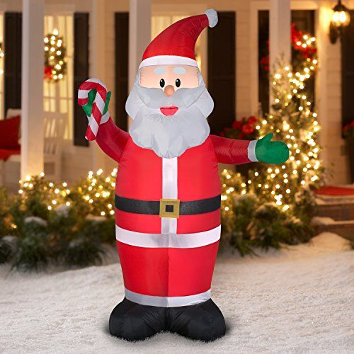 Inflatable Santa LED 7ft tall Outdoor Yard Christmas Airblown - inflatable christmas yard decorations
