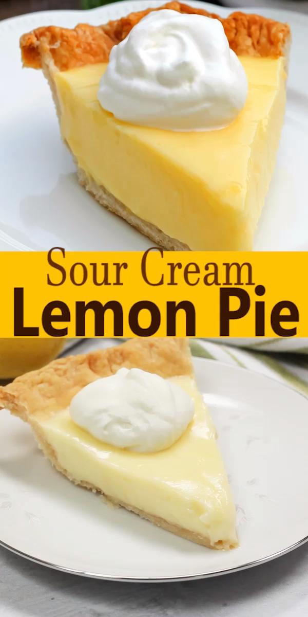 Sour Cream Lemon Pie Video Sour Cream Recipes Lemon Sour Cream Pie Lemon Pie Recipe