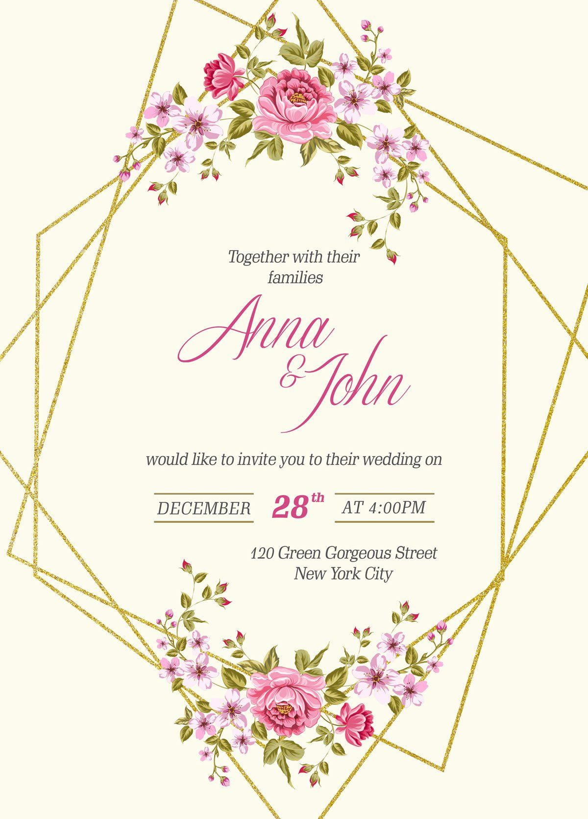 Wedding Invitation Template Free Fresh Free Wedding Invitation