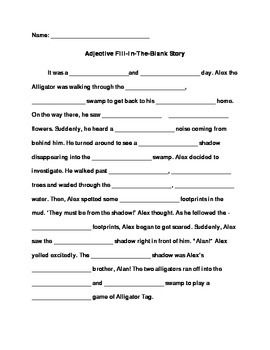 Adjective Fill In The Blank Story With Images Adjectives