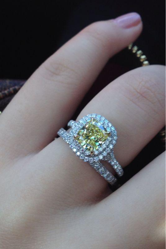 Tiffany Soleste Wedding Band Weddingbee Yellow Diamond Engagement Ring Yellow Diamonds Engagement Tiffany Engagement Ring