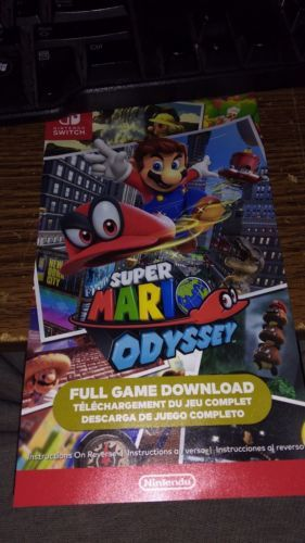 Super Mario Odyssey Digital Code Nintendo Switch Video Games