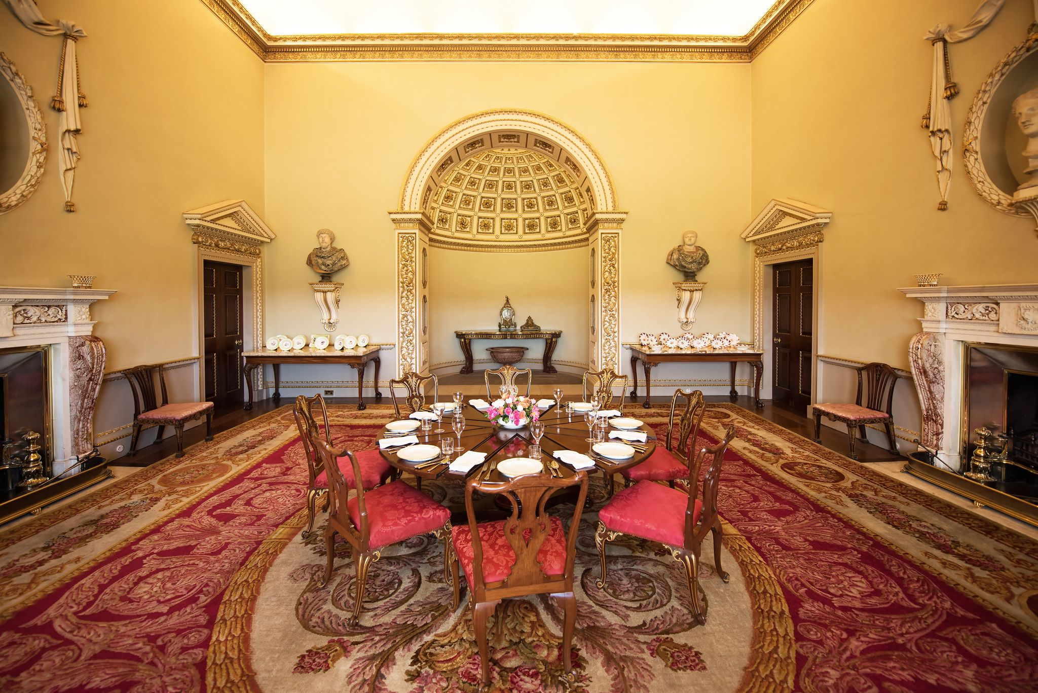 The North State Dining Room, Holkham Hall, Norfolk.