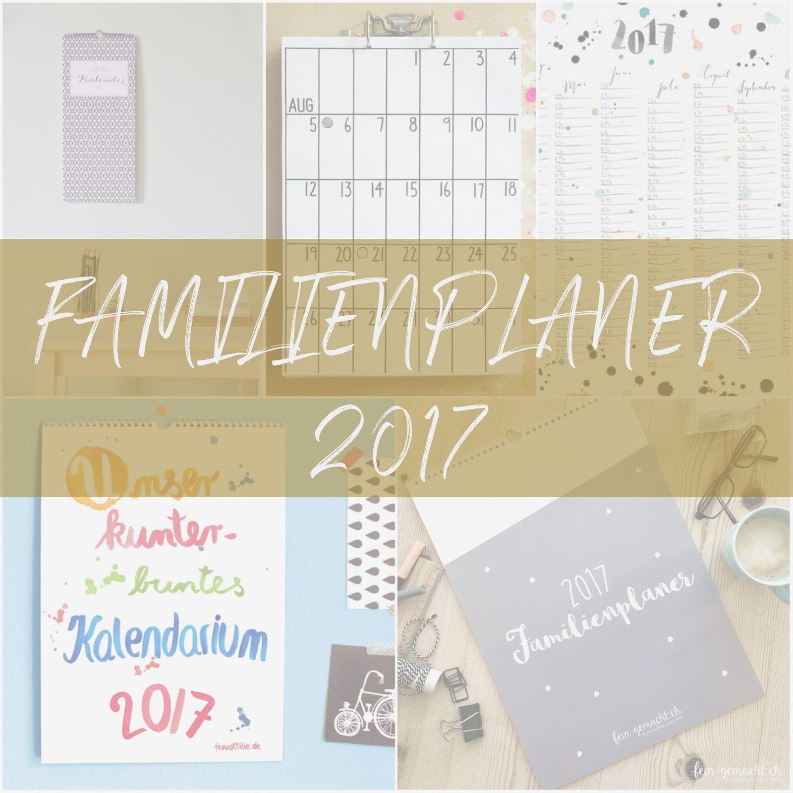 Familienplaner 2017 kostenlos ausdrucken oder fertig kaufen ...