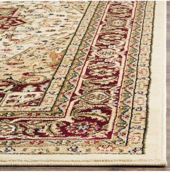 Safavieh Lyndhurst Ivory And Red 10 X 14 Area Rug Floral Rug Square Area Rugs Area Rugs