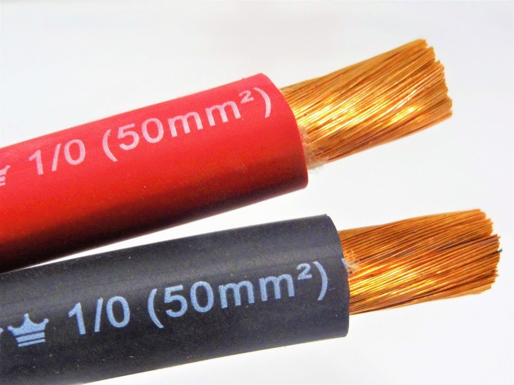Excelene 1 0 Awg Welding Lead Cable Copper Wire Made In Usa Black Red Welding Leads Welding Cable Welding