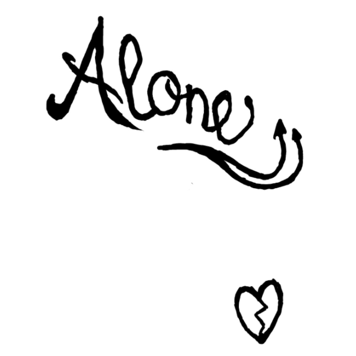 Alone Broken Heart Tattoo Broken Heart Tattoo Alone Tattoo Hope Tattoo