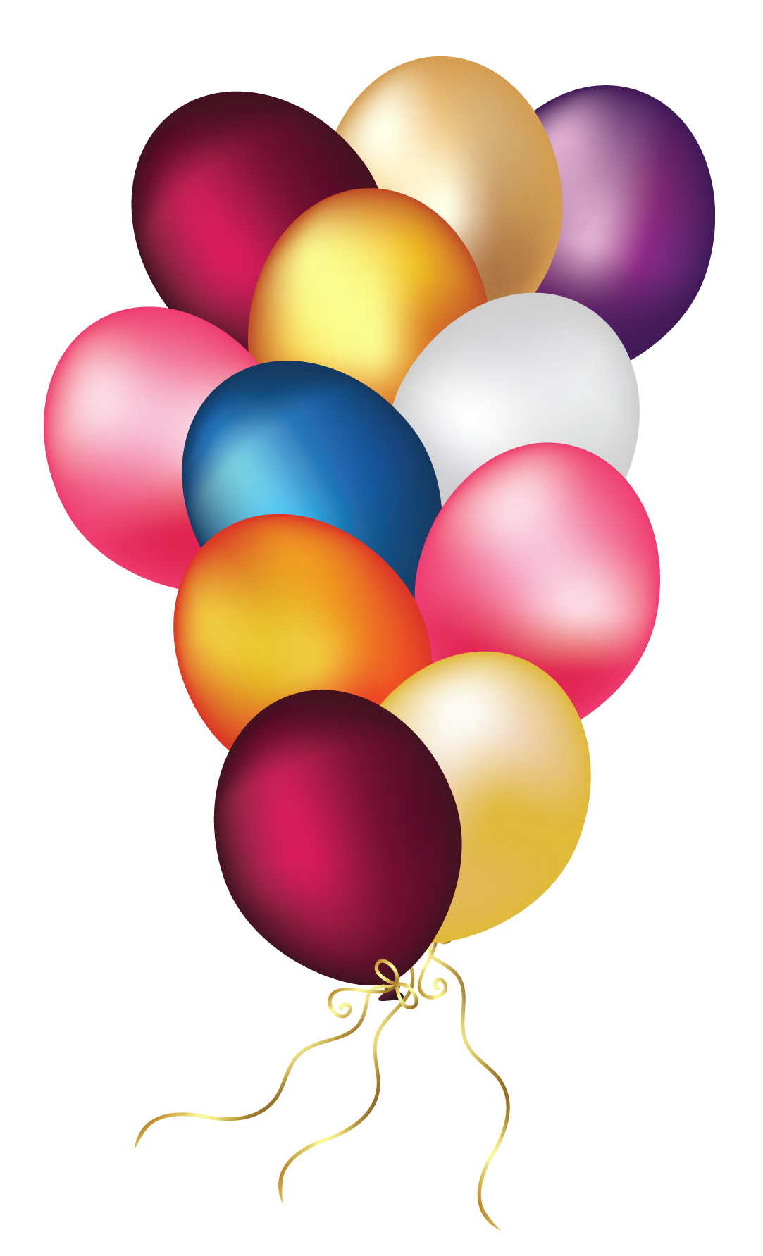 Colorful Balloons Transparent Png Clipart Happy Birthday