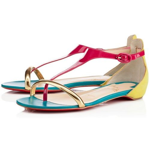 christian louboutin flat sandals