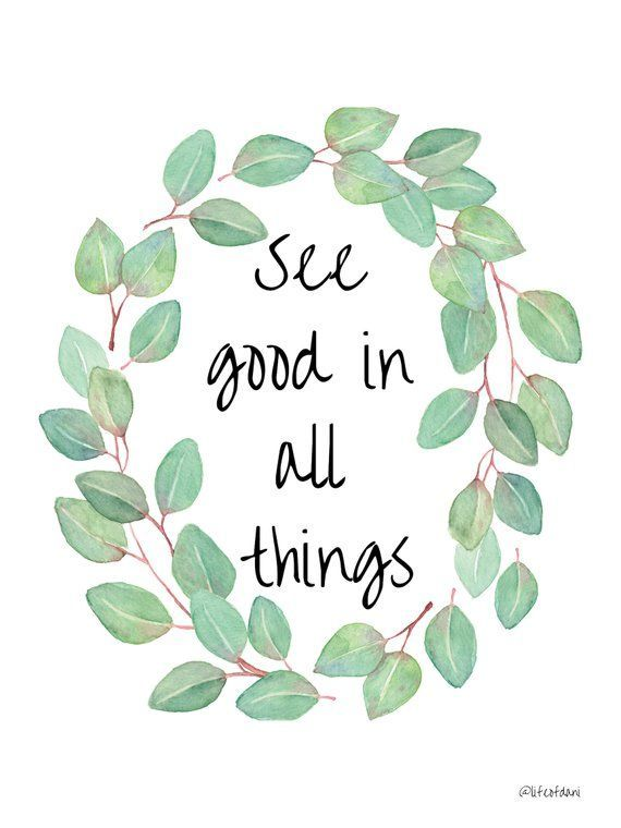 "PRINTABLE wall decor - ""See well in all things"" 