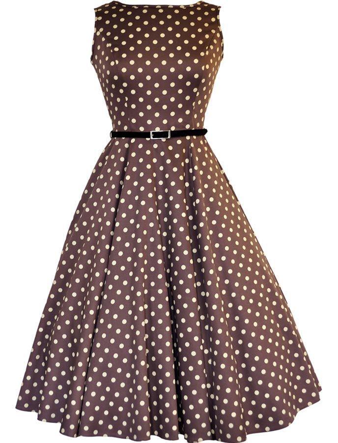 3ab5c654af2585 Audreypolka Mocha - Kleider - Vintage-Style - Ars-Vivendi | DRESS's ...