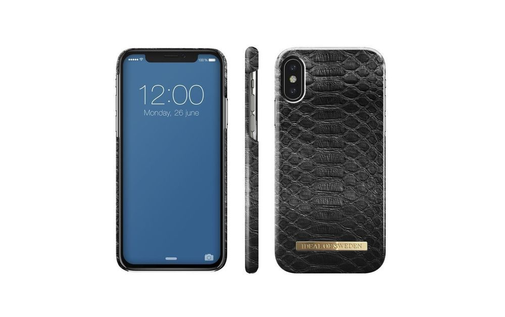 reputable site a4725 c5cec Ideal of Sweden Fashion case Black Reptile cover for Apple iPhone X ...