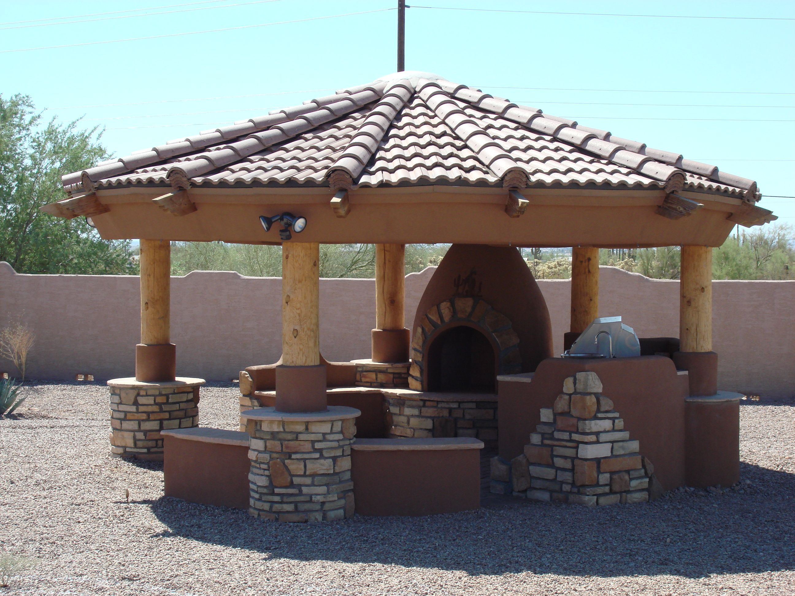 Outdoor fireplace gazebo fire pit gazebo plans http for Outdoor gazebo plans with fireplace