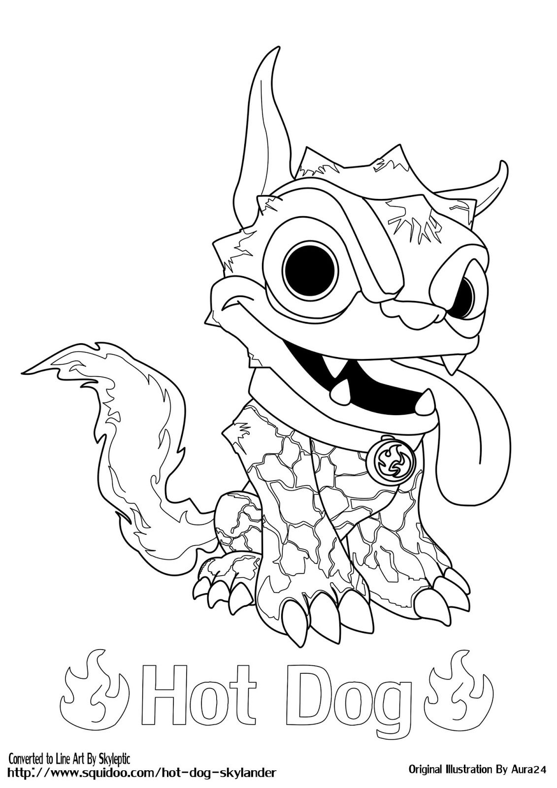 Skylanders coloring page printable skylander hot dog printable