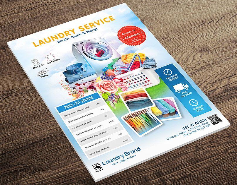 Laundry services flyer laundry service laundry service
