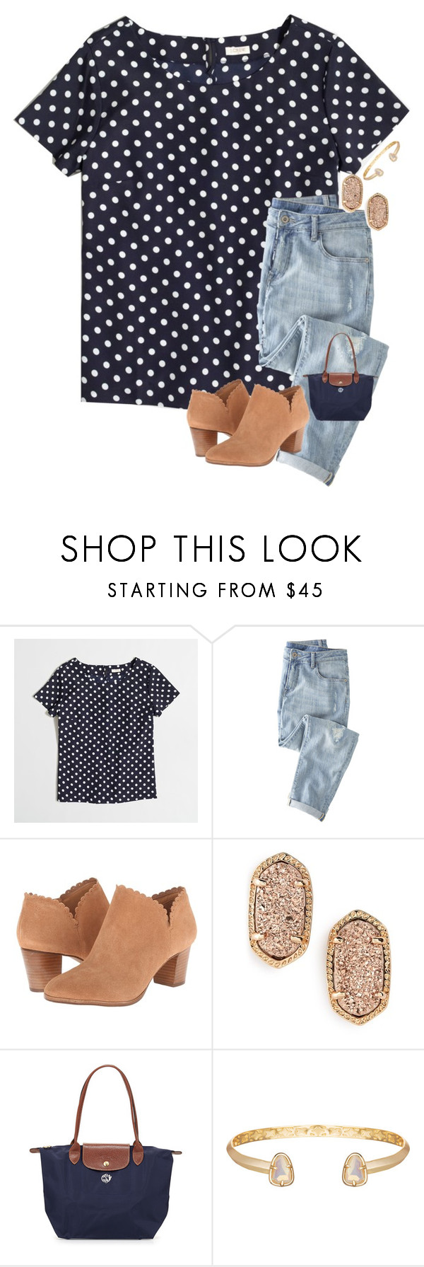 """going to see krampus"" by skmorris18 ❤ liked on Polyvore featuring J.Crew, Wrap, Jack Rogers, Kendra Scott and Longchamp"