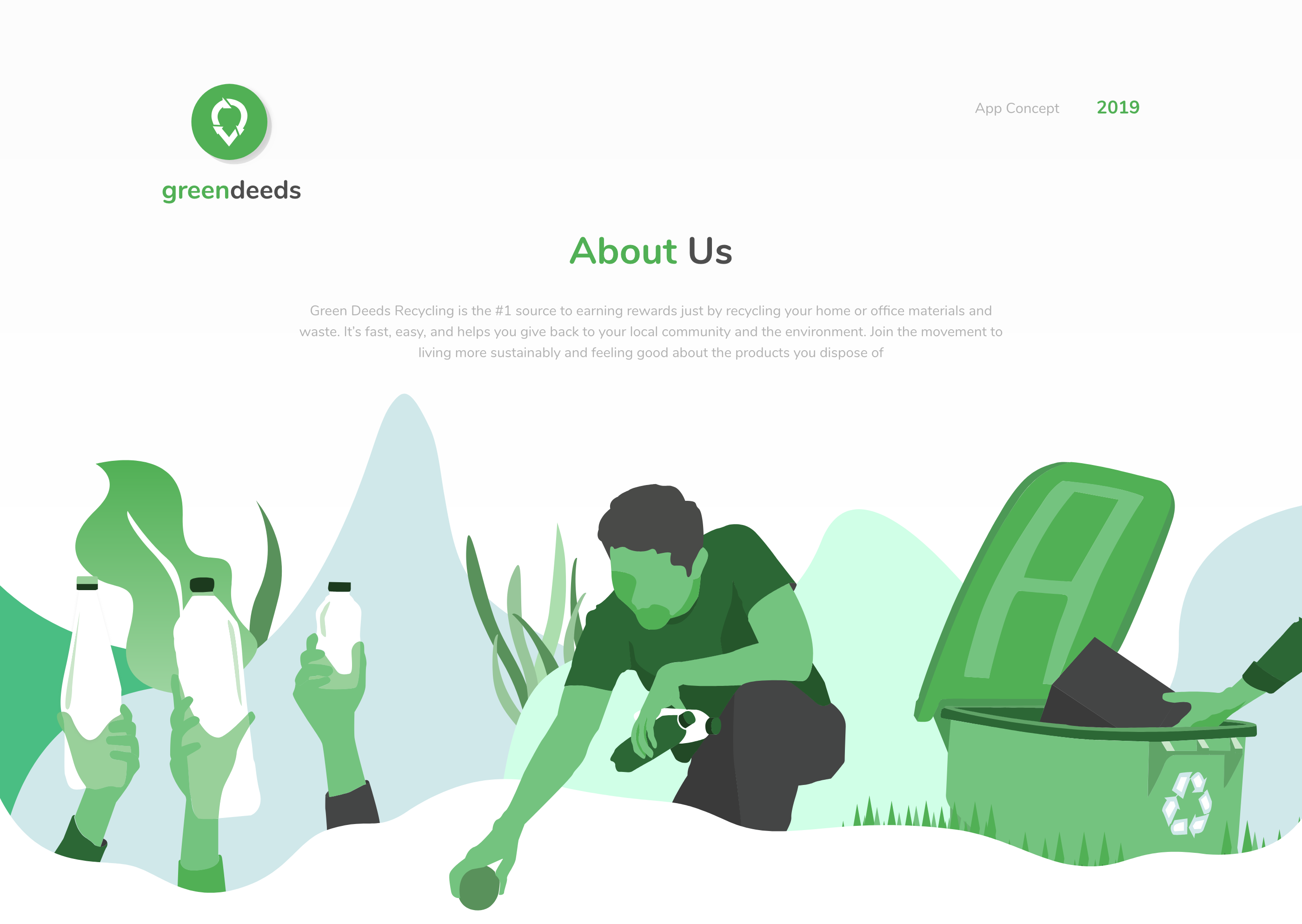 greendeeds Recycling App on Behance in 2020 Recycling
