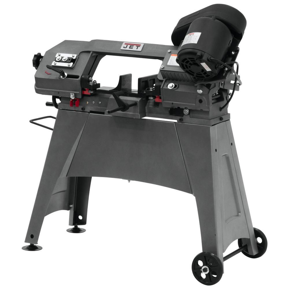 Jet 1 2 Hp 5 In X 6 In Metalworking Horizontal And Vertical Band Saw With Open Stand 3 Speed 115 230 Volt Hvbs 56m Metal Working Best Cordless Circular Saw Portable Band Saw