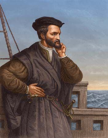 Navigator Jacques Cartier (1491-1557), was a French explorer who ...